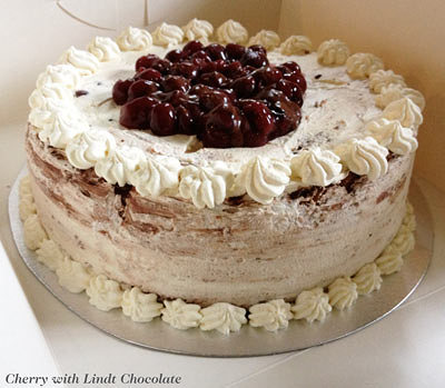 Cherry and chocolate cake